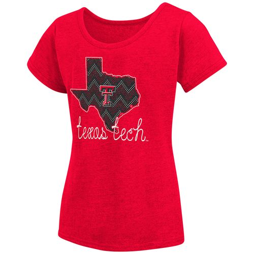 Colosseum Athletics™ Girls' Texas Tech University Tissue 2017 T-shirt