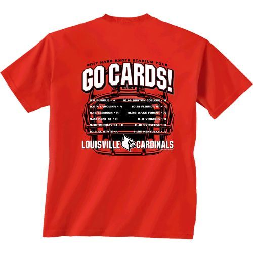 New World Graphics Men's University of Louisville Football Schedule '17 T-shirt
