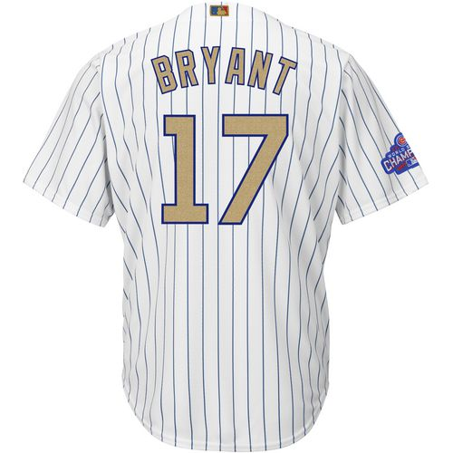 Majestic Men's Chicago Cubs Kris Bryant 17 2016 World Series Champions Cool Base Jersey