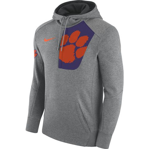 Nike Men's Clemson University Fly Fleece Pullover Hoodie