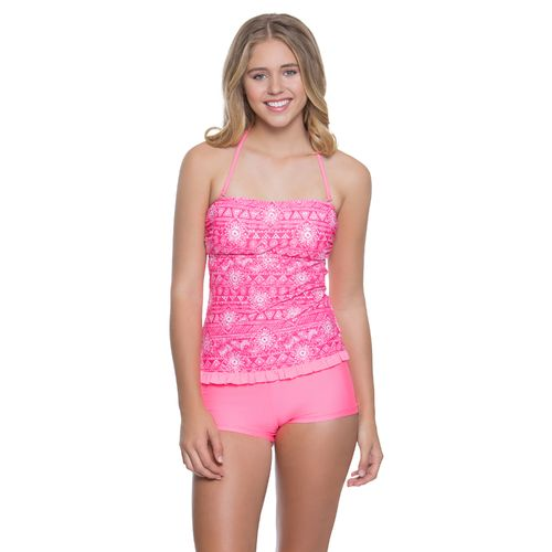 O'Rageous Juniors' Shake It For Me Bandeaukini Swim Top