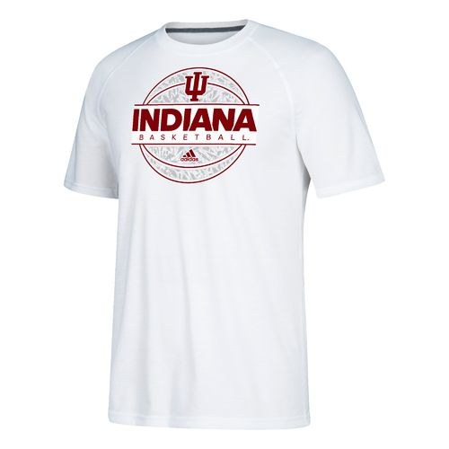 adidas Men's Indiana University Iced Out Short Sleeve Basketball T-shirt