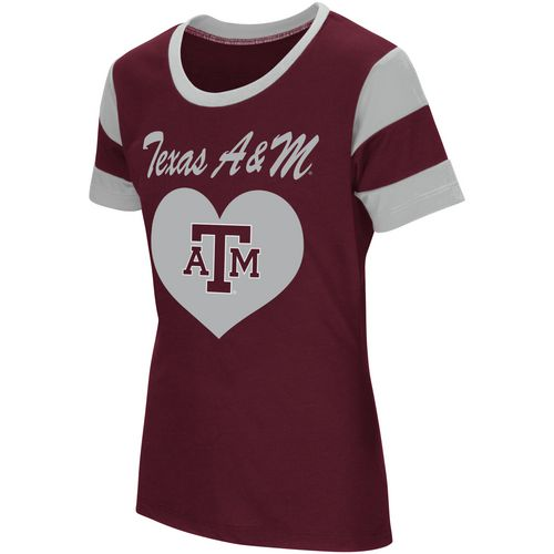 Colosseum Athletics Girls' Texas A&M University Bronze Medal Short Sleeve T-shirt - view number 1