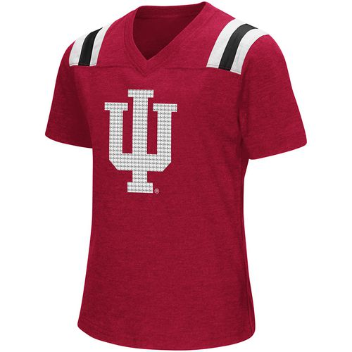 Colosseum Athletics Girls' Indiana University Rugby Short Sleeve T-shirt