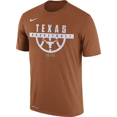 Nike Men's University of Texas Dry Legend Basketball Short Sleeve T-shirt