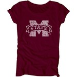 Blue 84 Juniors' Mississippi State University Mascot Soft T-shirt - view number 1