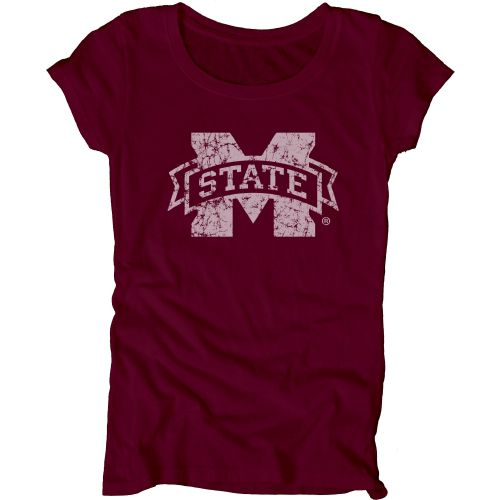 Blue 84 Juniors' Mississippi State University Mascot Soft T-shirt
