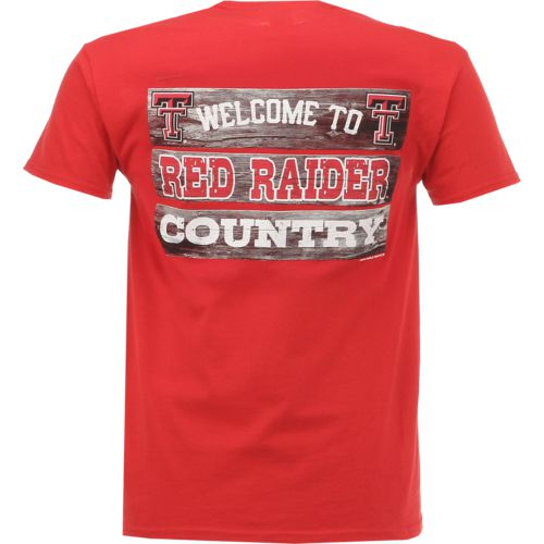 New World Graphics Men's Texas Tech University Welcome Sign T-shirt