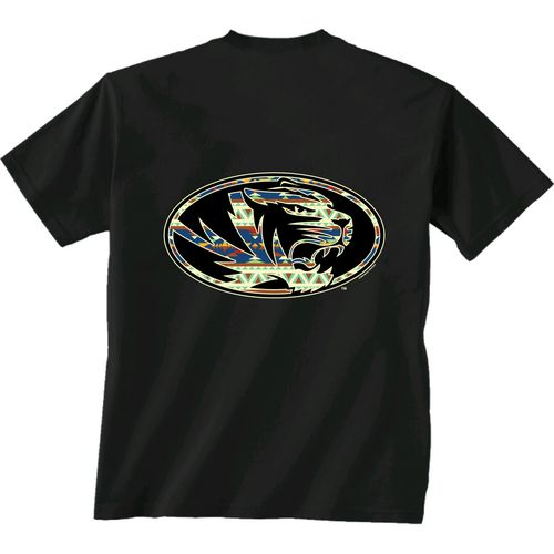 New World Graphics Women's University of Missouri Logo Aztec T-shirt
