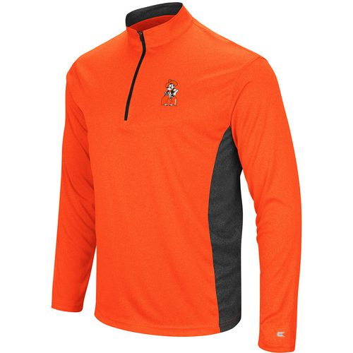 Colosseum Athletics Men's Oklahoma State University Audible 1/4 Zip Windshirt