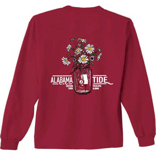 New World Graphics Women's University of Alabama Bouquet Long Sleeve T-shirt