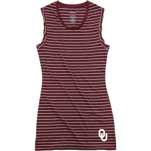 Boxercraft Women's University of Oklahoma Striped Sleep T-shirt