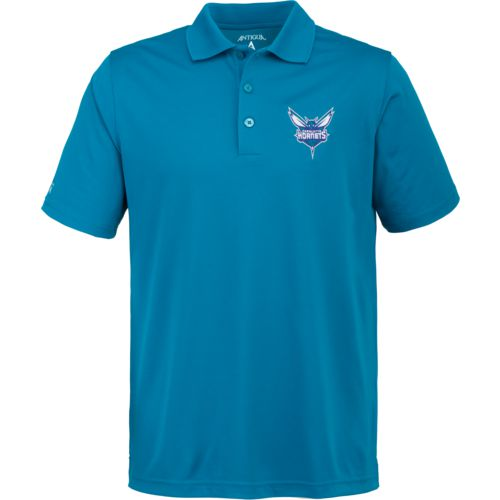 Antigua Men's Charlotte Hornets Pique Xtra-Lite Polo Shirt