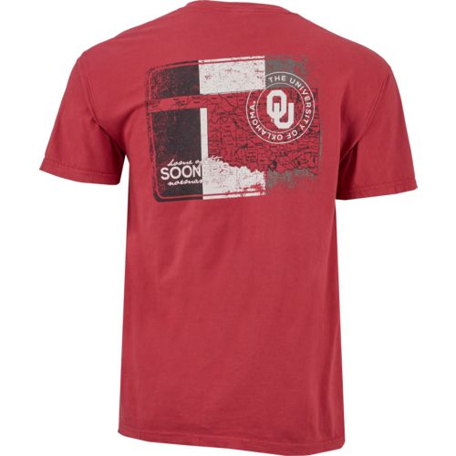Image One Men's University of Oklahoma State Map T-shirt