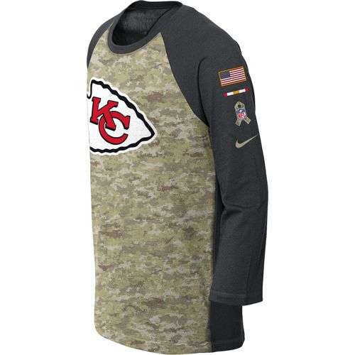 Nike Boys' Kansas City Chiefs Salute to Service Legend Raglan T-shirt