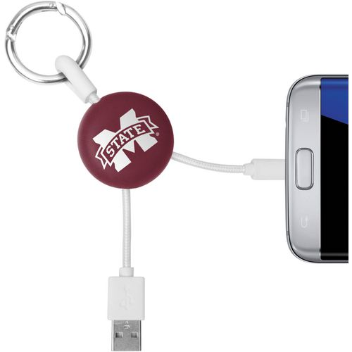 Mizco Mississippi State University Micro Phone Charger Keychain Cable