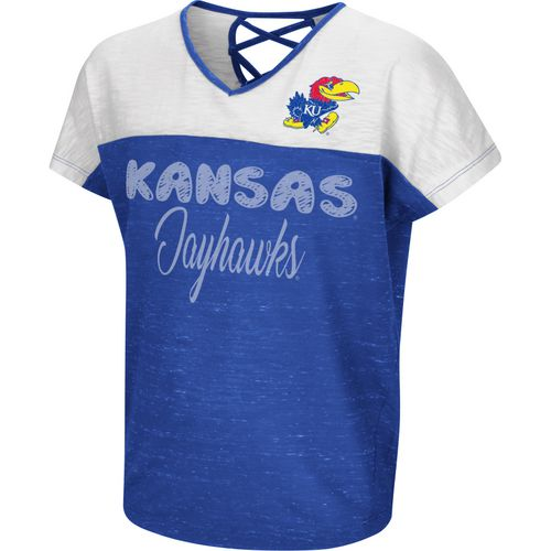 Colosseum Athletics Girls' University of Kansas Palledorous Dolman T-shirt