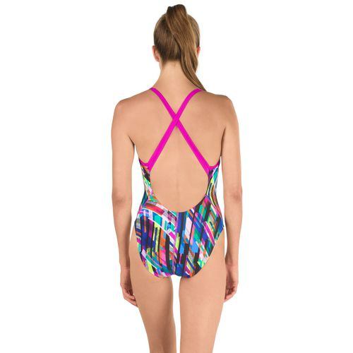 Speedo Women's Geo Storm Relay Back 1-Piece Swimsuit - view number 1