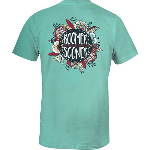 Image One Women's University of Oklahoma Vintage Floral Comfort Color T-shirt