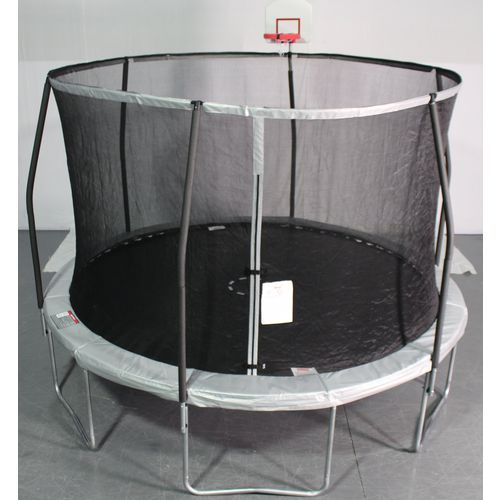 Jump Zone 12 ft Round Trampoline with STLFLXX Enclosure