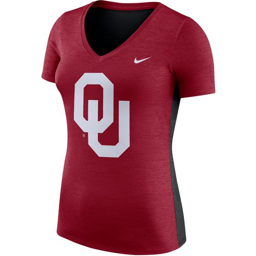Nike Women's University of Oklahoma Dri-FIT Touch V-neck T-shirt