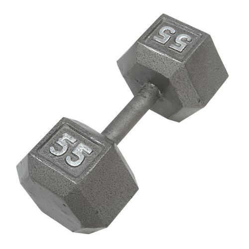 CAP Barbell 55 lb. Solid Hex Dumbbell