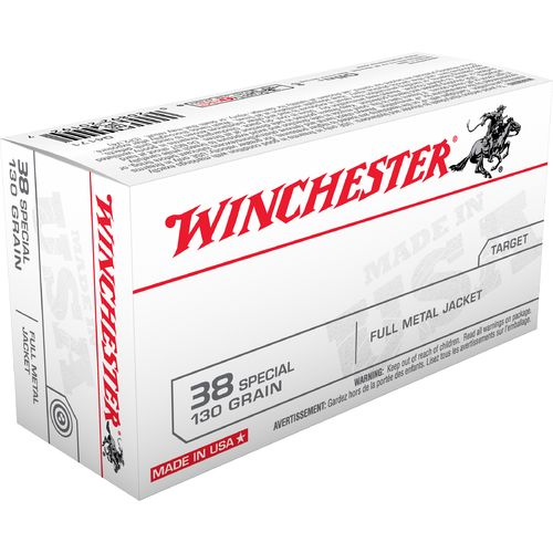 Winchester USA Full Metal Jacket .38 Special 130-Grain Handgun Ammunition
