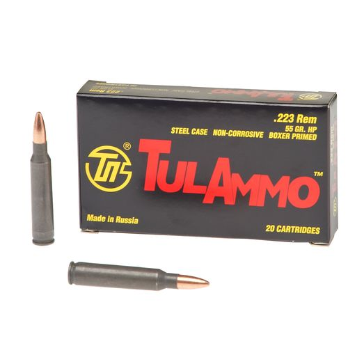 TulAmmo .223 Remington 55-Grain Centerfire Rifle Ammunition