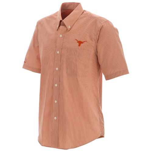 Antigua Men's University of Texas Focus Short Sleeve Woven Shirt