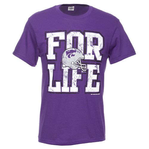 New World Graphics Adults' Kansas State University For Life Short Sleeve T-shirt