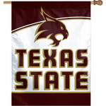 WinCraft Texas State University Vertical Flag