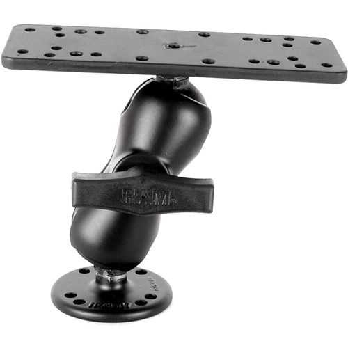 RAM 1.5' Diameter Ball Mount with Short Double Socket Arm, Rectangle Base and Round Base