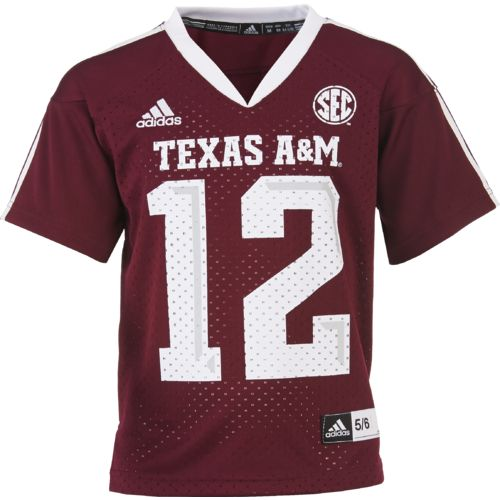 adidas™ Boys' Texas A&M University Sideline Replica Jersey