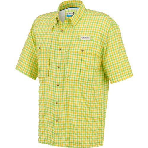 Magellan outdoors men 39 s aransas pass short sleeve plaid for Magellan fishing shirts