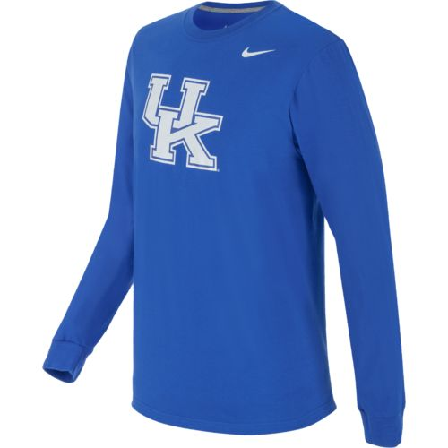Nike Men's University of Kentucky Logo Long Sleeve Cotton T-shirt