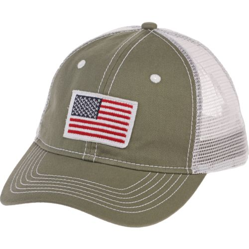 Academy Sports + Outdoors Men's American Flag Trucker Hat - view number 1