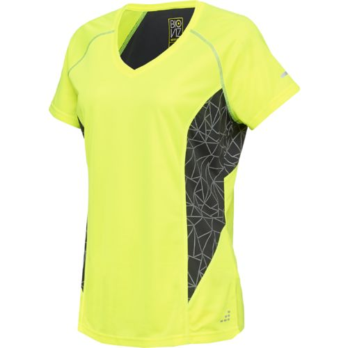 BCG™ Women's Running Short Sleeve V-neck Reflective Printed