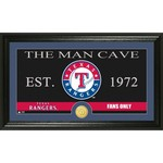 The Highland Mint Texas Rangers Man Cave Bronze Coin Photo Mint