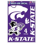WinCraft Kansas State University Multi-Use Decals 4-Pack - view number 1