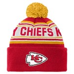 NFL Kids' Kansas City Chiefs Cuffed Knit Cap with Pom