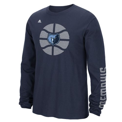 adidas™ Men's Memphis Grizzlies Cager Go To Long Sleeve T-shirt