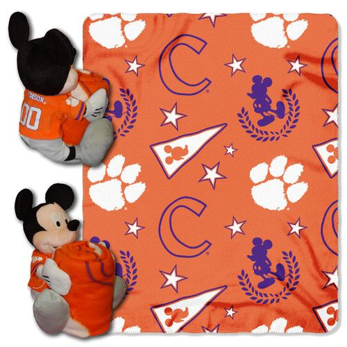 The Northwest Company Clemson University Mickey Mouse Hugger and Fleece Throw Set - view number 1