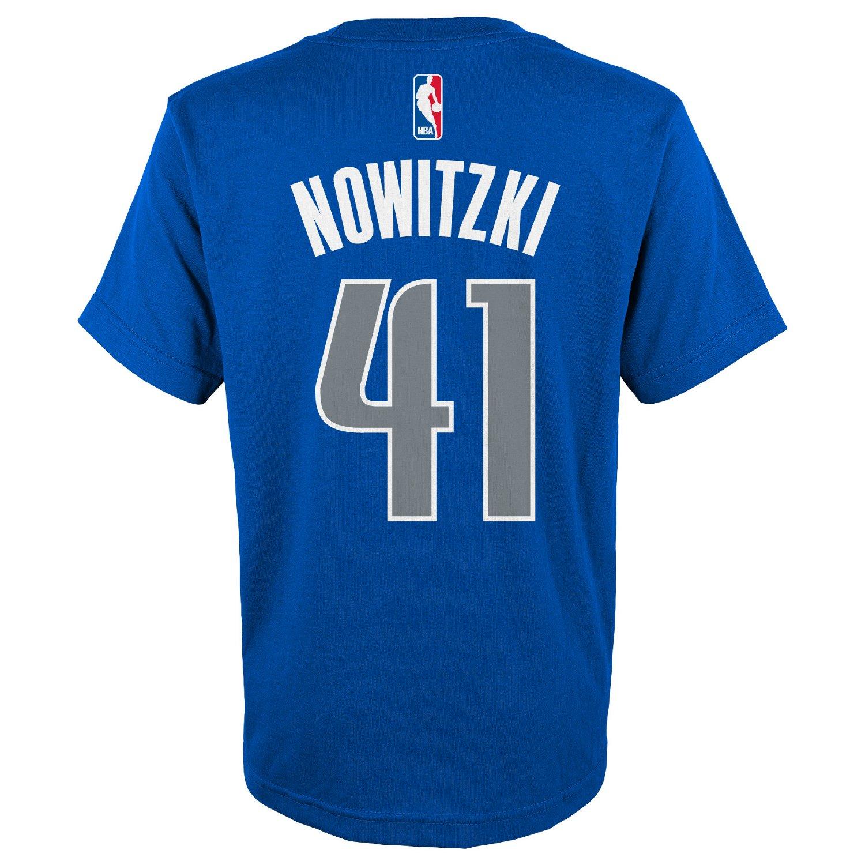 adidas™ Boys' Dallas Mavericks Dirk Nowitzki #41 Flat