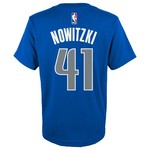 adidas™ Boys' Dallas Mavericks Dirk Nowitzki #41 Flat Player T-shirt