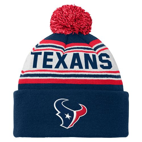NFL Kids' Houston Texans Cuffed Knit Cap with Pom
