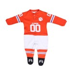 Glitter Gear Toddlers' Clemson University Short Sleeve Footy Suit