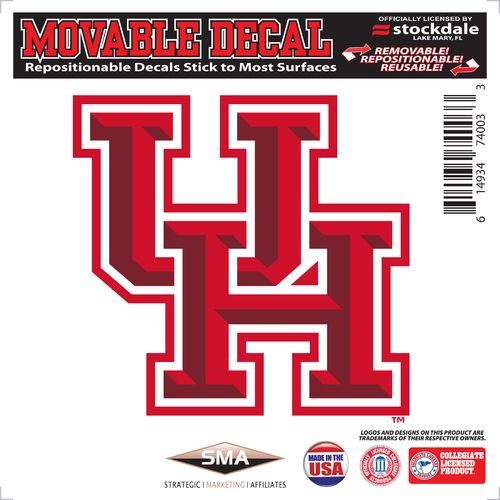 "Stockdale University of Houston 6"" x 6"" Decal"