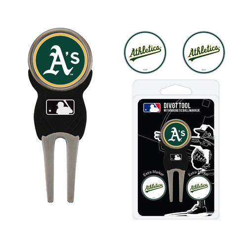 Team Golf Oakland Athletics Divot Tool and Ball Marker Set - view number 1