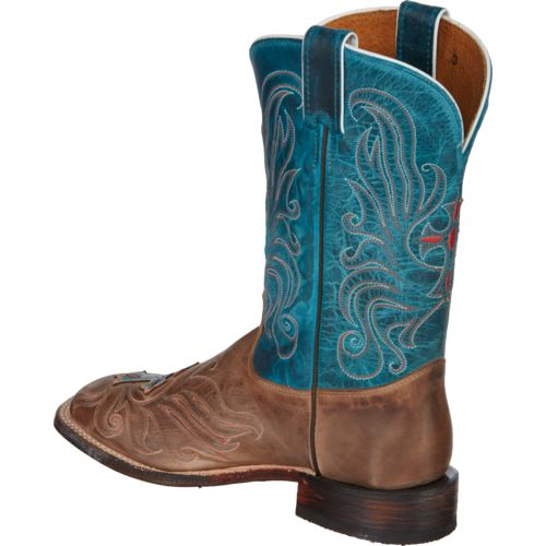Tony Lama Women's Vintage Cow with Painted Cross San Saba Western Boots - view number 3