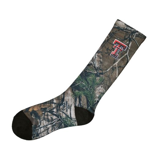 Atlanta Hosiery Company Men's Texas Tech University Camo Socks